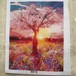 BNIB Paint by Number Cherry Tree at Sunset